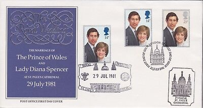 Gb Stamps First Day Cover 1981 Royal Wedding Doubled St Pauls Rares Collection