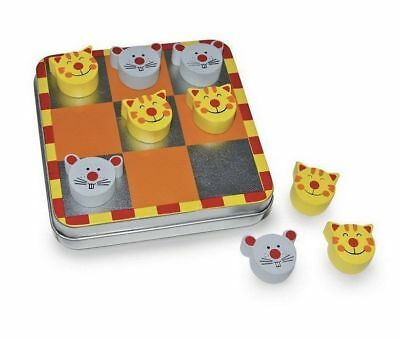 New Cat And Mouse Magnetic Tic Tac Toe Noughts & Crosses Game In Tin Legler 2404