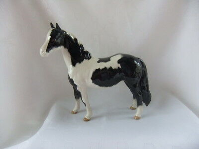 "Beswick Piebald Pinto  Pony No. 1373 -  Second  Version Tail Loose - 6 1/2"" High"