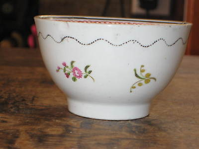English Porcelain Small Bowl Painted Floral Sprigs