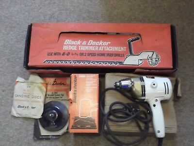 Vintage Black & Decker D800 Drill + Various Attachments / Accessories (Boxed)