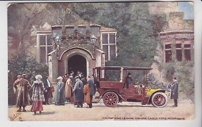Gb Stamps King At Lismore Castle Card With Anglo Advert Rares Collection