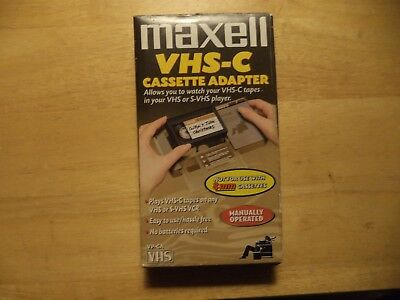 MAXELL VHS-C Cassette Adapter.  Easy to use/hassle free.