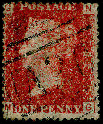Sg43, 1d rose-red plate 82, good used. A26 GIBRALTAR NG