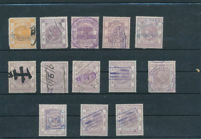 Hong Kong QV Stamp Duty Revenues To 50c (13 Items) BKA 267