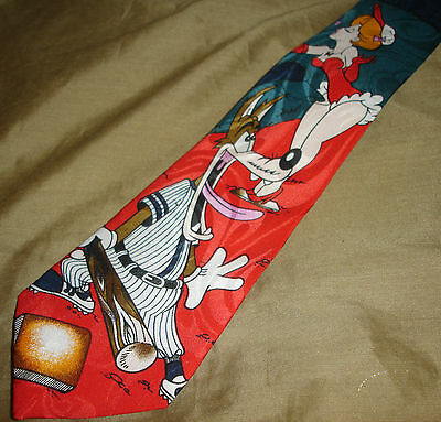 Turner Entertainment BASEBALL Wolf Sexy Pinup WOMAN Tie 100% Polyester