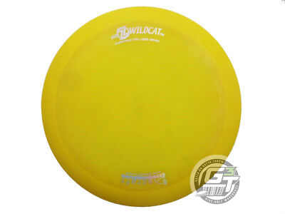 USED Discraft Elite Z Wildcat 170g Yellow Holo Foil RARE OOP Driver Golf Disc