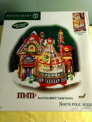 Department 56 North Pole M&M's Candy Factory #56.56773 WORKS - READ