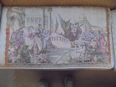 Vintage/antique Original Wall/table Runner Tapestry Colonial Design Guac