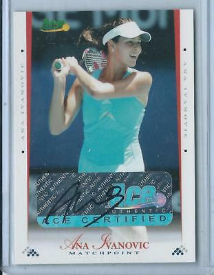 2008 Ace Authentic Ana Ivanovic Matchpoint AUTO AUTOGRAPH TENNIS