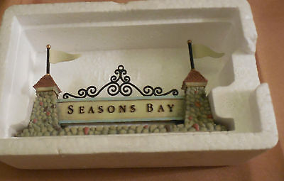 Department 56 SEASONS BAY Sign Figurine