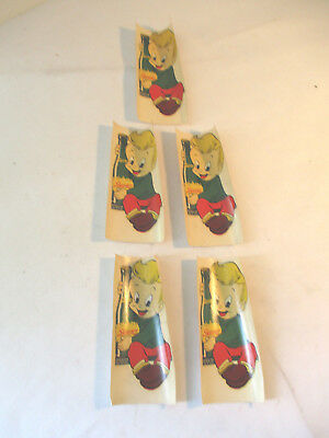 Lot Of 5 Vintage 1948 Squirt Kid Soda Decals Estate Buy Nr Free Shipping