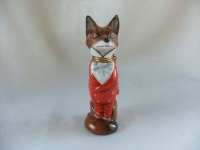 "Royale Stratford  ""mr  Fox"" Novelty Figural Scent / Perfume Bottle - 3 1/4"" High"
