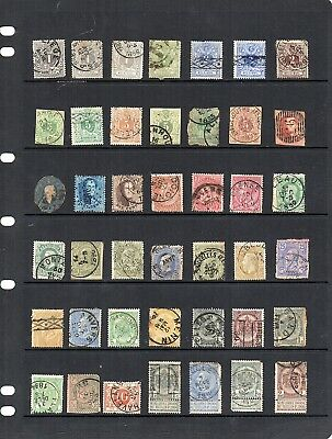 Stamps from old Album - Belgium x 55 - mixed condition - as per scans
