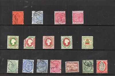 Stamps from old Album - Commonwealth in Eu x 16 - mixed condition - as per scans