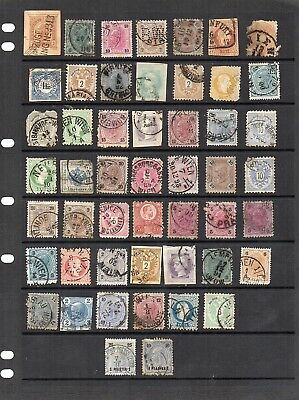Stamps from old Album - Austria x 50 - mixed condition - as per scans