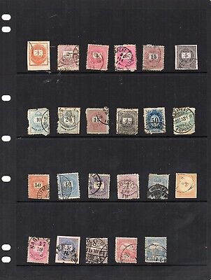 Stamps from old Album - Hungary x 23 - mixed condition - as per scans
