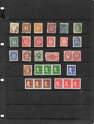 Stamps from old Album - Norway x 29 - mixed condition - some Mint - as per scans