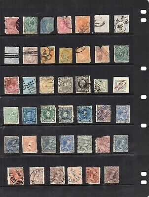 Stamps from old Album - Spain x 41 - mixed condition - as per scans