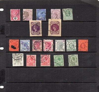 Stamps from old Album - Other Asia x 19 - mixed condition - as per scans