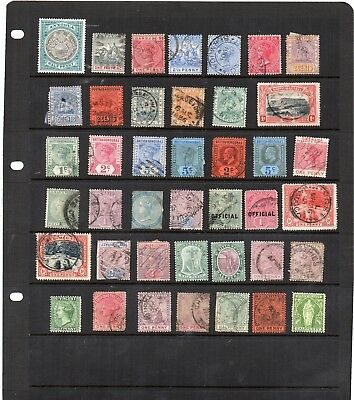 Stamps from old Album - British Americas x 41 - mixed condition - as per scans