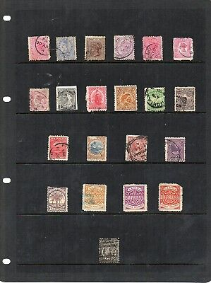 Stamps from old Album - New Zealand,etc x 21 - mixed condition - as per scans