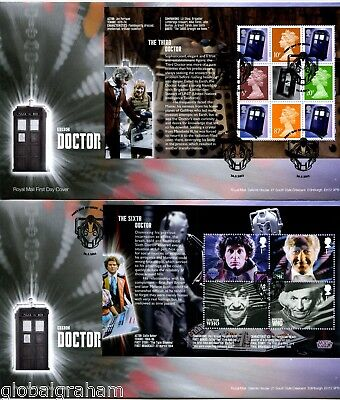 2013 DR. WHO GREAT BRITAIN ROYAL MAIL PRESTIGE BOOKLET PANES FDC x5 VGC