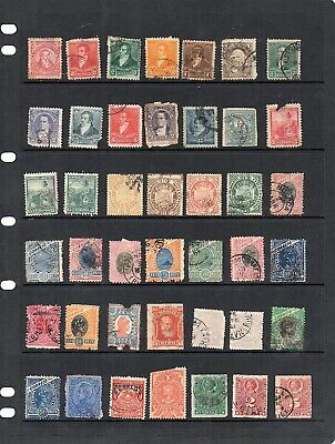 Stamps from old Album - S. and C. America x 124 - mixed condition - as per scans