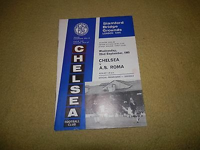 Inter Cities Fairs Cup 1st round 1st leg - Chelsea v A.S. Roma in 1965