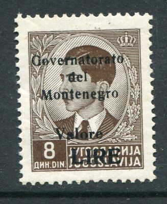 MONTENEGRO ITALIAN OCCUPATION 1942 8d MLH Stamp cat EURO 30