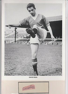 Manchester United Busby Babe David Pegg  Photo And  Hand Signed Autograph