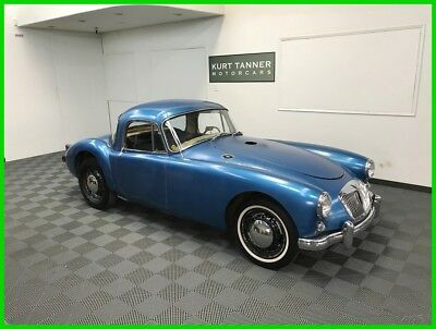 1957 MG MGA 1500 Coupe 1957 MGA 1500 COUPE. RARE ORIGINAL COLORS OF BLACK WITH RED TRIM. VERY COMPLETE.