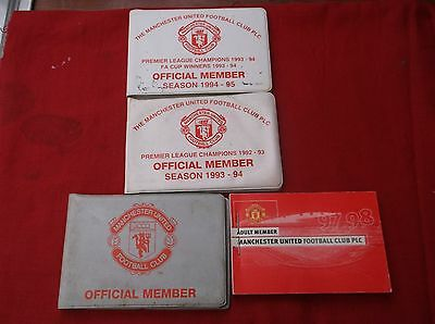 Manchester United   Unused Official Member Ticket Book 1996/7