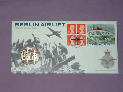 1999 Royal Mint & Royal Mail Berlin Airlift First Day Medallic Stamp Cover