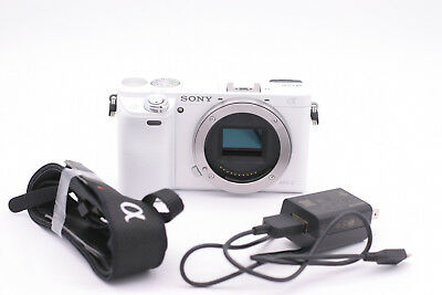 Sony Alpha a6000 24.3MP Digital Camera - White (Body Only) - Shutter Count: 1172