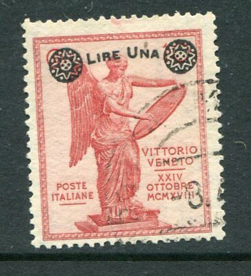ITALY 1924 VICTORY Overprinted 1L on 10c Used Stamp cat EURO 450