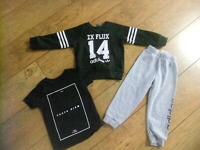 Infant Boys Adidas Jumper Joggers River Island Mini T-Shirt Age 18-24 Months