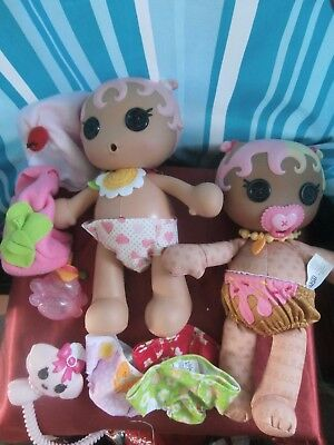 2 lalaloopsy dolls with accessories