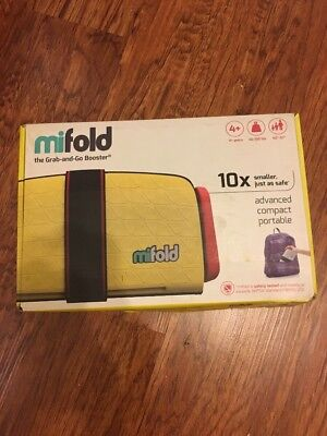 mifold Grab-and-Go Car Booster Seat Yellow Taxi