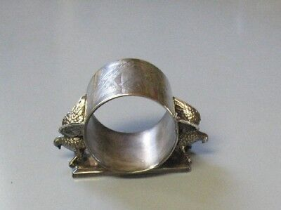 Lovely Early Figural Double Eagle Silverplate Napkin Ring Holder - Meriden, CT