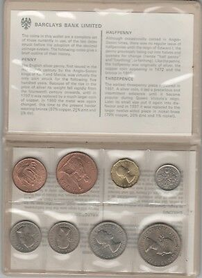 UK 1967 8-COIN SET issued by Barclays Bank