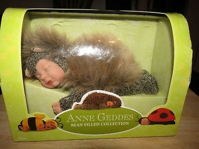 Anne Geddes - Bean Filled Collection - Baby Hedgehog Brand New In Box