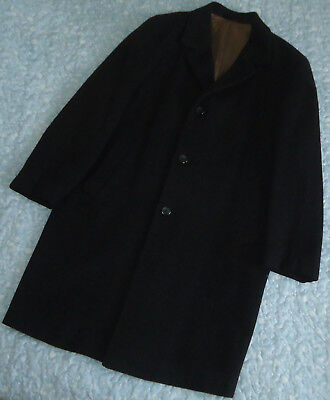 """Vintage 1970's """"Crombie"""" Tailored By Baronia Charcoal Grey Winter Coat (L)"""