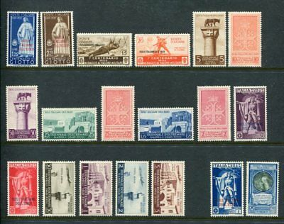 AEGEAN ISLANDS ITALY 1930-40 MNH MLH Lot to 100L 19 Stamps cat EURO 485