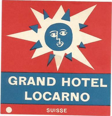 GRAND HOTEL luggage label (LOCARNO)