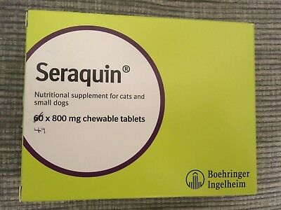 Seraquin 49 x 800mg chewable tablets for cats and dogs joint care arthritis