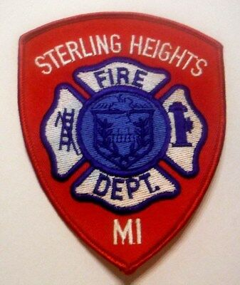 Sterling Heights Michigan Fire Dept Patch Unused