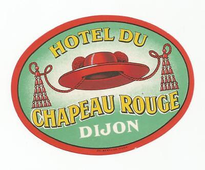 HOTEL CHAPEAU ROUGE luggage label (DIJON)