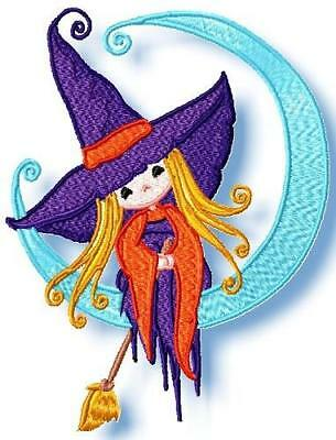 Little Witches 10 Machine Embroidery Designs Cd 2 Sizes