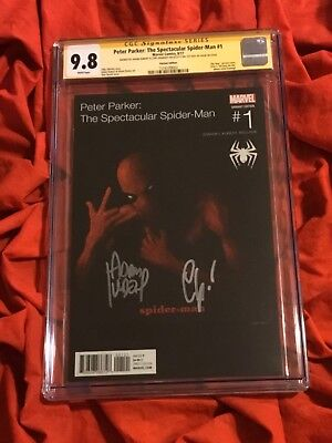 Cgc Ss 9.8~Peter Parker Spider-Man #1~Tupac Variant~Signed Kubert+Zdarsky~Q9